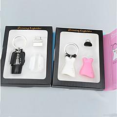 Liga de Zinco / Jóia Favors Chaveiros Piece / Set Chaveiros Tema Clássico Não-Personalizado Branco / Preto / Rosa / Prateado