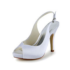 Women's Wedding Shoes Heels Sandals Wedding Black/Blue/Pink/Purple/Red/Ivory/White/Silver/Gold/Champagne