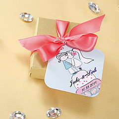 Personalized Favor Tags - Kissing (set of 36)