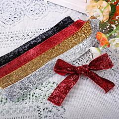 Pevná barva Polyester Svatební stuhy Piece / Set Tkaná stuha