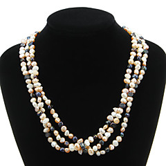 Mooie Natural Pearl Strand Women's Necklace