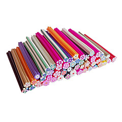 50PCS Mixed Pattern Cartoon Flower Canes Rods Nail Art Decoration