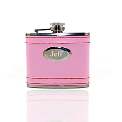 Gift Groomsman /Bridesmaid Personalized  5-oz Pink Flask
