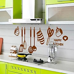 Kitchen Ware Pattern DIY Adhesive Removable Wall Decal