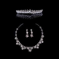 Smykker Set Dame Jubileum / Bryllup / Engasjement / Bursdag / Gave / Spesiell Leilighet Juvel Sett Legering Krystall / Rhinestone