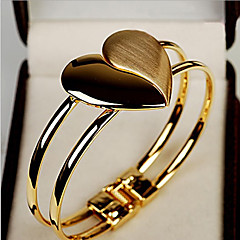 MISS U Gold Dull Polished Heart Bracelet
