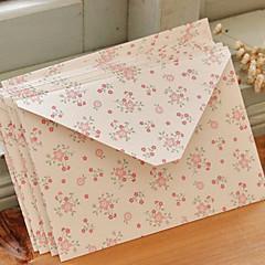 Small Flower Pattern Art Paper Envelop - Set of 12