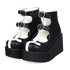 Boty Gothic Lolita Lolita Platforma Boty Patchwork 8 CM Bílá / Černá Pro Dámské PU kůže/Polyurethanová kůže