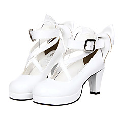 Lolita Shoes Classic/Traditional Lolita Princess High Heel Shoes Bowknot 7 CM For PU Leather/Polyurethane Leather
