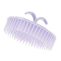 Purple Zaoblený Shampoo Comb