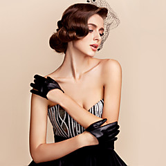 Wrist Length Fingertips Glove Faux Leather Party/ Evening Gloves / General Purposes & Work Gloves Spring / Summer / Fall / Winter