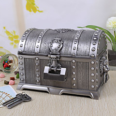 Vintage הכסף Tutania אוצרות Box / קופסא תכשיטים עם נעילה