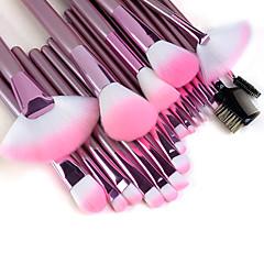 Profesjonelt sminkebørstesett i 22 deler, høy kvalitet, rosa håndtak