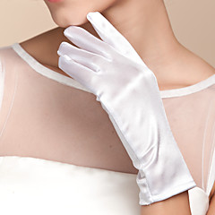 Wrist Length Fingertips Glove Satin Bridal Gloves Spring Summer Fall