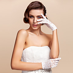 Wrist Length Fingertips Glove Lace Bridal Gloves Spring / Summer / Fall / Winter