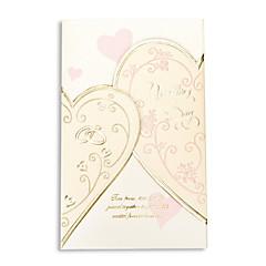 """Přizpůsobeno složený třikrát Svatební Pozvánky Pozvánky-50 Kusů v sadě Srdcový styl Perlový papír 6 ½""""×4 ½"""" (16,6*11,5 cm)"""