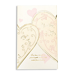 Elegant Golden Hearts Wedding Invitation - Set Of 50