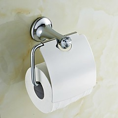 Elegáns Silver Crystal Brass WC-papír tartók