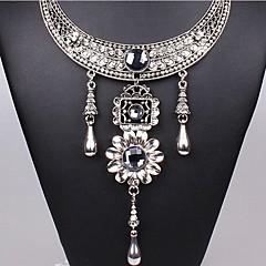 J & S-ethnische Art galvanisieren Silber-Halskette