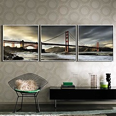 Landscape Bekeretezett vászon / Bekeretezett szett Wall Art,PVC Fehér Háttéranyag nélkül a Frame Wall Art