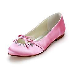 Wedding chiuso dita dei piedi delle donne raso appartamenti con bowknot strass scarpe (più colori)