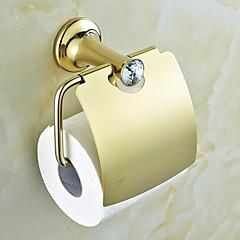 Kortárs Arany Crystal Brass WC-papír tartók