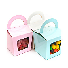 Simple Cupcake box With Handle - Set of 12 (More Colors)