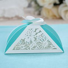 Triangle Garten-Thema Hochzeit Favor Box-Set 12
