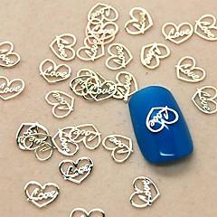 200pcs liefde hart ontwerp slice metalen nail art decoratie