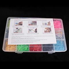 zespoły baoguang®loom mały rozmiar gumy wielokolorowy paśmie C dla dzieci (3000pcs, losowy kolor)