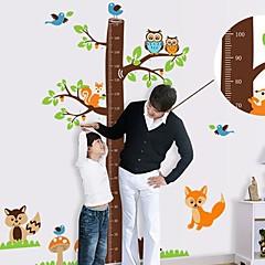 Createforlife ® Cartoon træhøjde Chart Kids Nursery Room Wall Sticker Wall Art Decals