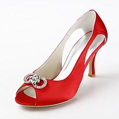 Women's Wedding Shoes Heels/Peep Toe Heels Wedding Black/Blue/Yellow/Pink/Purple/Red/Ivory/White/Silver/Gold/Champagne