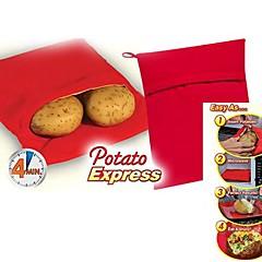 """Kartoffel ausdrückliche Mikrowelle Kartoffelkocher, Polypropylen 9.6 """"X7.6"""" x0.4 """""""