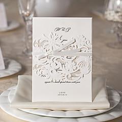 conception magnifique flore mariage blanc invitation ensemble de 20/10/50