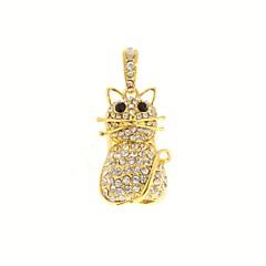 ZP 32gb золотой немного рисунок кошки побрякушки алмаз металлический стиль USB Flash Drive
