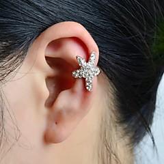 Poignets oreille Alliage Strass Imitation de diamant Forme d'Etoile Argent Bijoux Mariage Soirée Quotidien Décontracté Sports 1pc