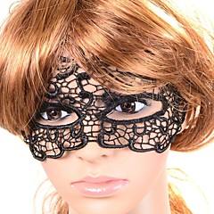 Masque Cosplay Fête / Célébration Déguisement d'Halloween Noir Couleur Pleine Dentelle Masque Halloween Unisexe