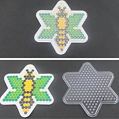 1pcs modèle modèle d'abeille de panneau perforé clair pour perles hama 5mm Perler perles perles fusibles