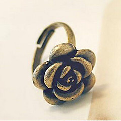Women's Alloy Ring With Rose