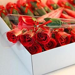 1 db ünnep ajándékok emelkedett alakú szappan virágok
