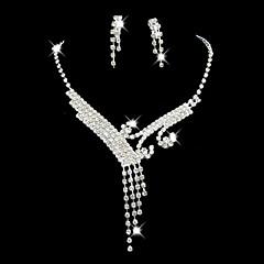 Smykker Set Dame Jubileum / Bryllup / Engasjement / Bursdag / Gave / Fest / Spesiell Leilighet Juvel Sett Legering Rhinestone Sølv