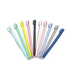 10 חתיכות עט חרט מגע צבעוני עבור נינטנדו ndsl nds lite