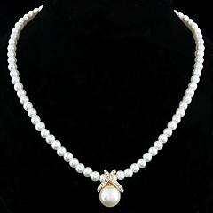 Жен. Ожерелья с подвесками Жемчужные ожерелья Бижутерия Жемчуг Стерлинговое серебро Искусственный жемчуг Стразы Серебрянное покрытие