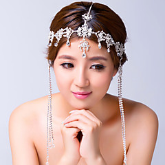 Women's Alloy / Cubic Zirconia Headpiece-Wedding / Special Occasion Head Chain Clear