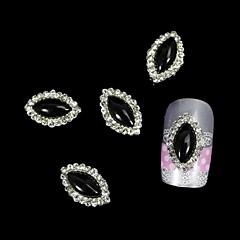 10st zwart marquise diy legering accessoires nail art decoratie