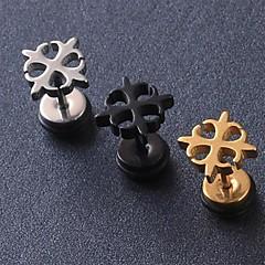 Beszúrós fülbevalók Titanium Acél Fekete Ezüst Aranyozott Ékszerek Mert Esküvő Parti Napi Hétköznapi Karácsonyi ajándékok
