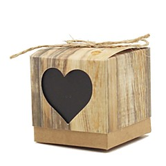 Classic Heart-Shaped Kraft Paper Favor Box-Set of 12