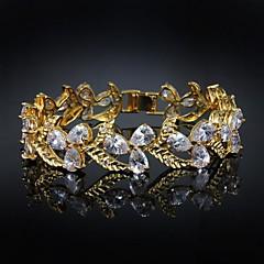 זהב סגסוגת נחמד מצופה צמיד צמידי זירקון גדול (יותר צבעים)
