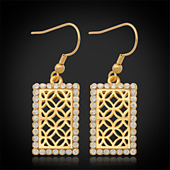 U7®New Vintage Luxury Women's Drop Dangle Earrings 18K Gold Plated Austrian Rhinestone Crystal Jewelry Gift for Women