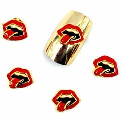 50pcs 3d sexy Lippen Glitter Halloween-Party Nageldesign für Acrylnagelspitzen Nagelkunstdekorationen